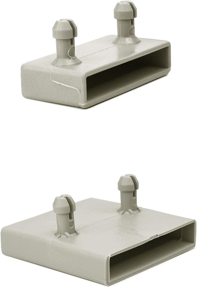 Juego de soportes de listones de cama de 53 mm para camas de metal, 30 lados y 20 centros