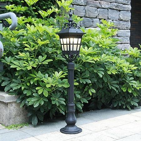 Luces de jardín Luces de Exterior Luces de jardín Luces de Luces Luces de Calle Impermeables Lámparas (Color : Black, Size : 88 * 16.5 * 16.5cm): Amazon.es: Hogar