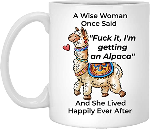 Details about  /A Wise Woman One Said Novelty Funny Llama mug 11oz//15oz