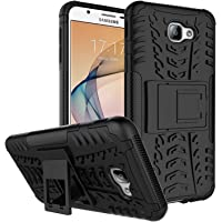THE SHOPPING HUB SHOPSHOPIEN Samsung (J7 PRIME/ On NEXT) Armour Case , Military Grade Hard Hybrid Rugged Bumper Kick Stand Back Cover Defendor- Black