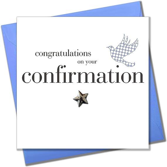 Tarjeta de felicitaci/ón de confirmaci/ón para ni/ño Claire Giles