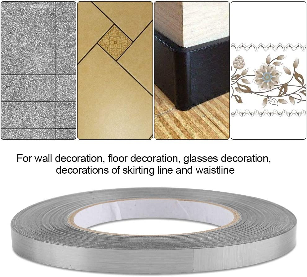 DIY Foil Ground Tile Floor Crevice Line Sticker Self Adhesive Home Decor