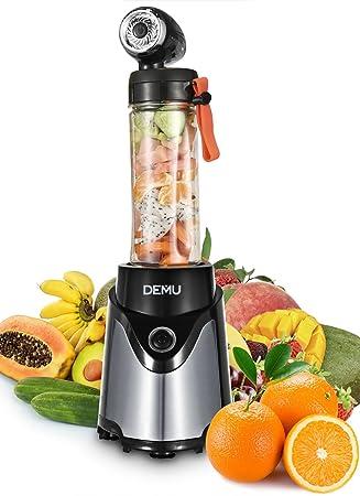 demu licuadora al vacío 300 W batidora para Smoothies Minibatidora mezclador vacío frutas y Legumes plata: Amazon.es: Hogar