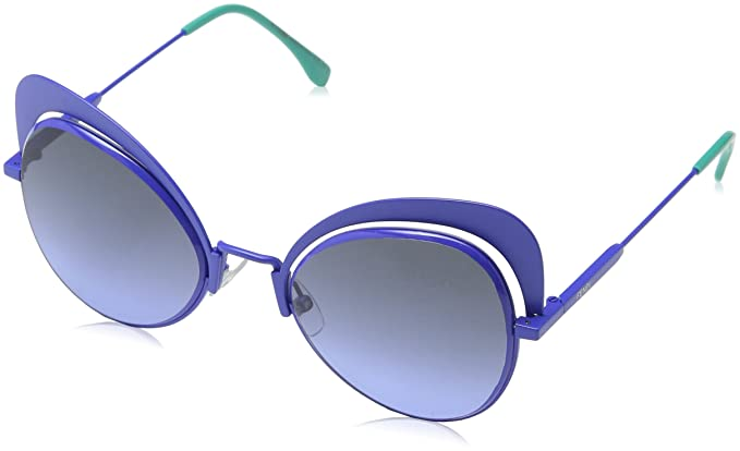 6ba77100a5a Amazon.com  Fendi Eyeshine Blue Gradient Cat Eye Ladies Sunglasses ...