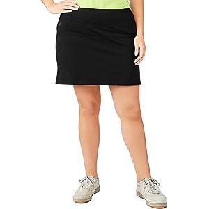 e9164b35ffd Danskin Now Women s Plus Size Adjustable Waist Hidden Pocket Basic Knit  Skort