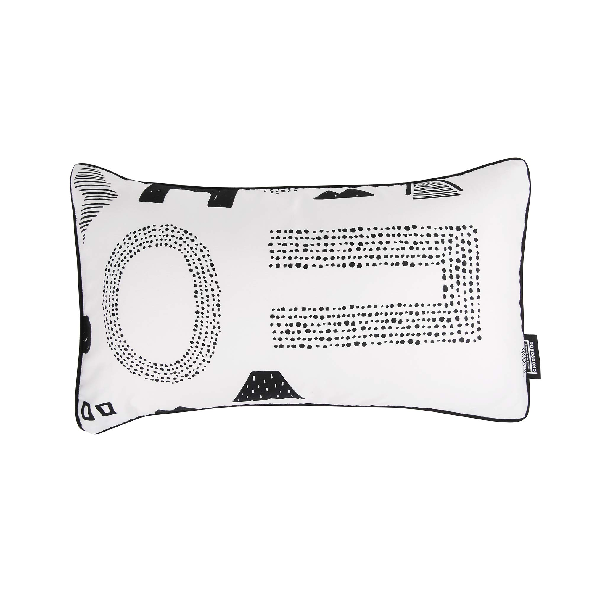 Dono&Dono Airflow Pillow and Pillowcase for Toddlers and Kids, Micromodal Moisture Wicking. (Maze Letter)