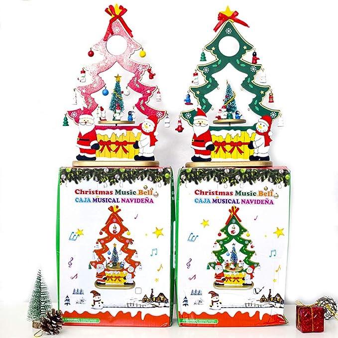 AndrewIrving - Caja de música para árbol de Navidad, diseño de Papá Noel, Caja de Regalo de Navidad, Adornos para Fiesta, Caja de música, Manualidades Creativas, el Mejor Regalo: Amazon.es: Hogar