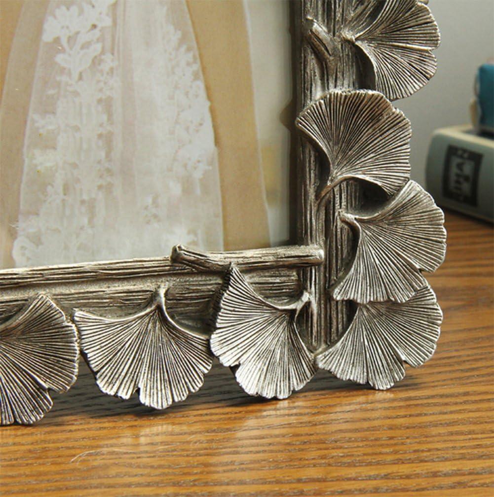 weiwei Portaretrato creativo vintage,Ginkgo biloba hojas Portafotos de resina Marco de la decoración del hogar-B 10.2x15.3cm(4x6inch): Amazon.es: Hogar