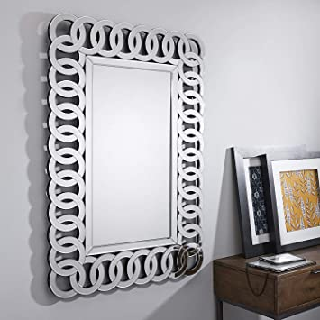 Buy Alfa Design Italian Large Silver Wall Rectangular Living Room Hallway Bathroom Bedroom Mirror Size 36 X 24 Inch Online At Low Prices In India Amazon In
