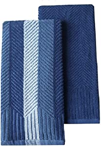 Food Network 2-pk. Sculpted Kitchen Towels- Cobalt