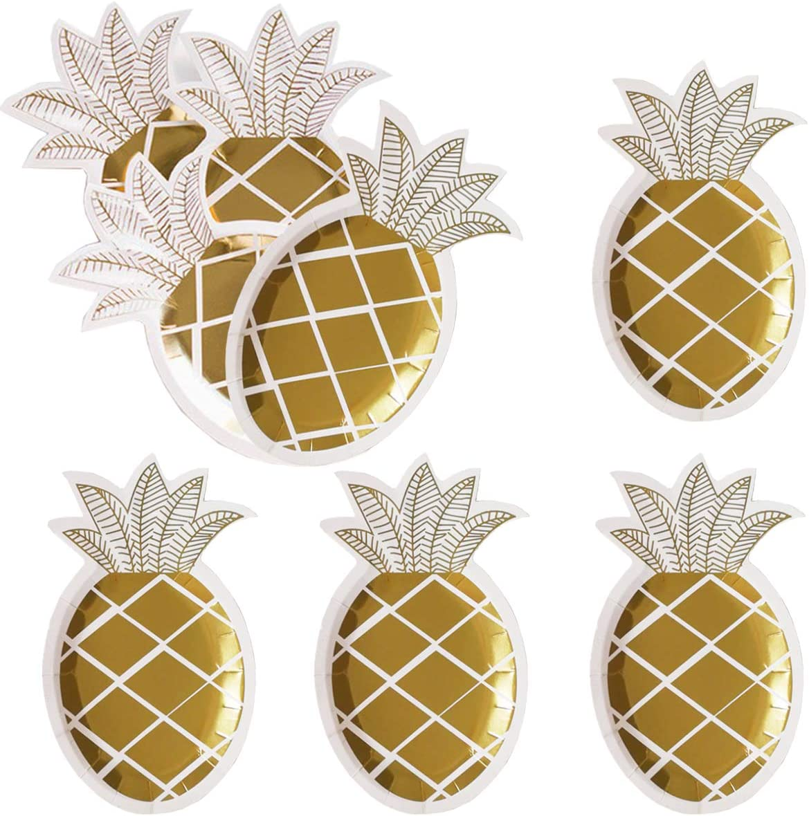 Personalized Pineapple Plate Personalized Plate Polymer Plate dishwasher safe yellow watercolor pineapples personalized kids plate