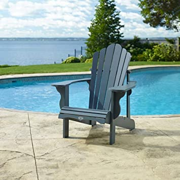 Beau Leisure Line Adirondack Chair In Grey