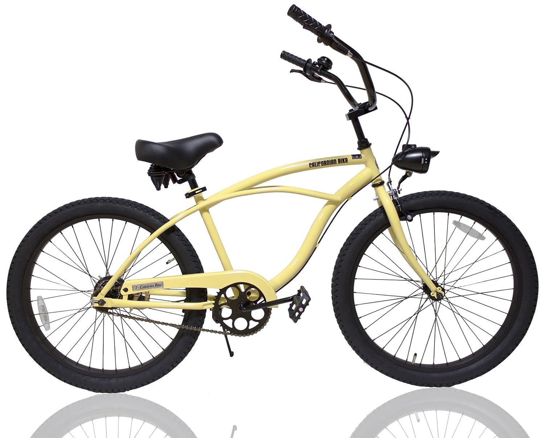 本格的 ビーチクルーザー 自転車 24 インチ サブライム カスタム クルーザーハンドル ライト付き B076Q78R6V