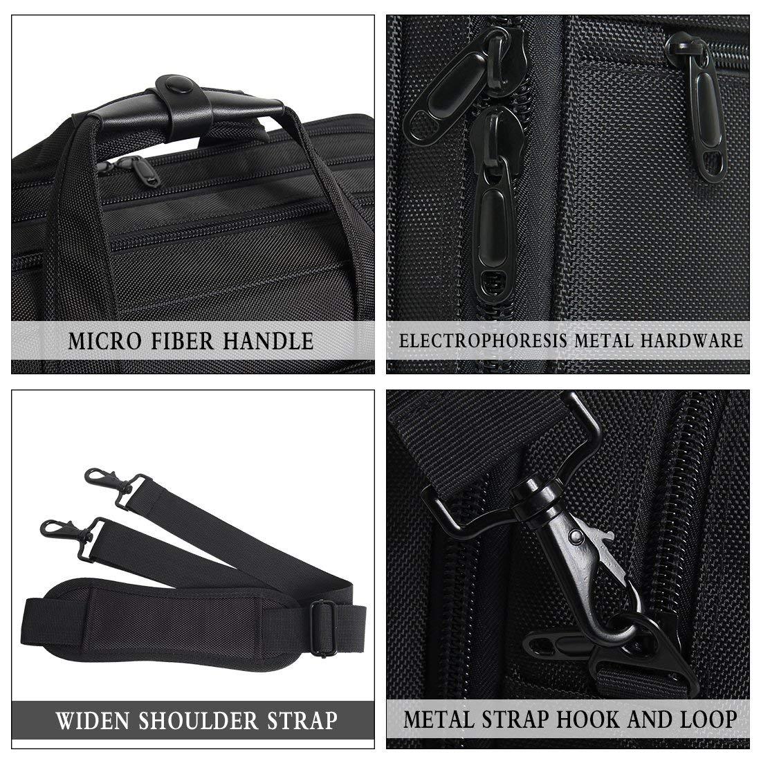 18-18.5 inch Laptop Bag,Water Resisatant Business Laptop Briefcase,Expandable High Capacity Shoulder Bag,Nylon Multi-Functional Shoulder Messenger Bag for Men Fits 17.3 inch Loptop,Computer,Tablet by LYALPH (Image #7)