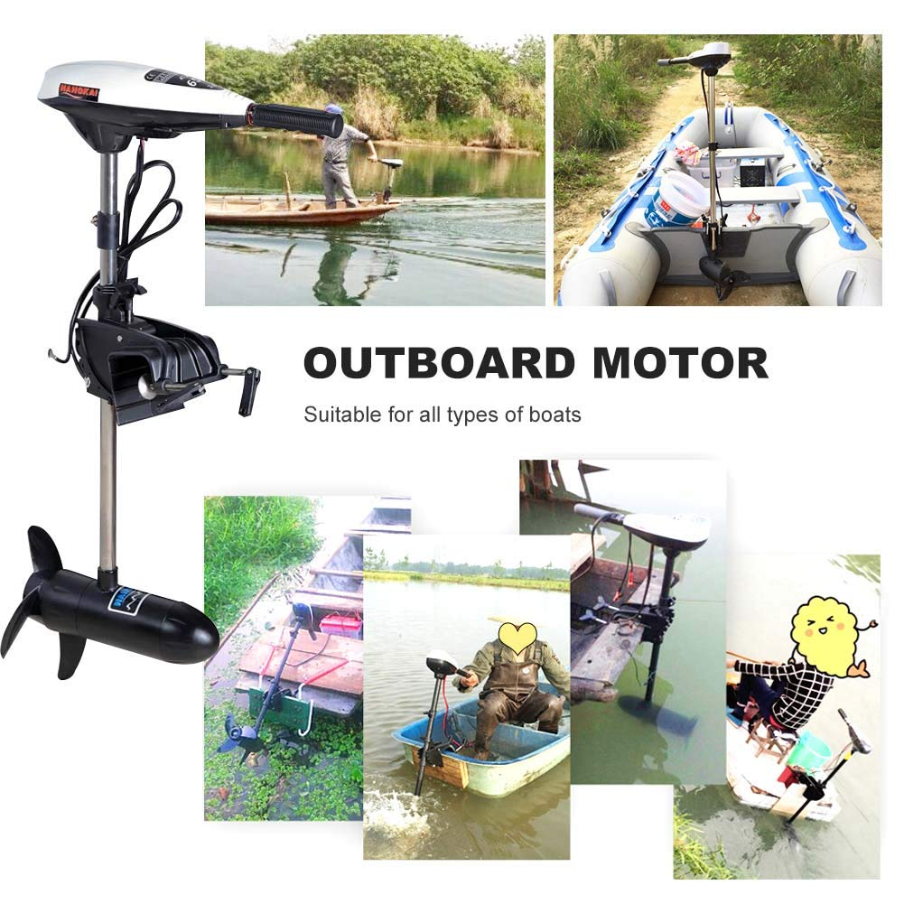 20KG Power 12V 480W 7 Gears Boat Electric Outboard Motor Engine