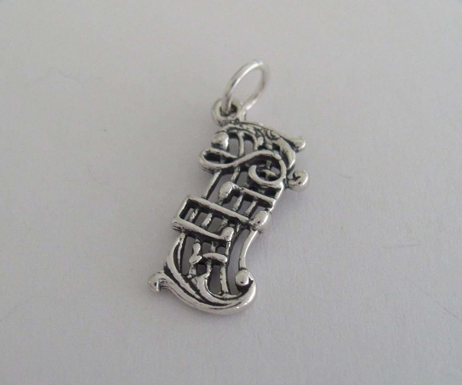 Sterling Silver Music Charm