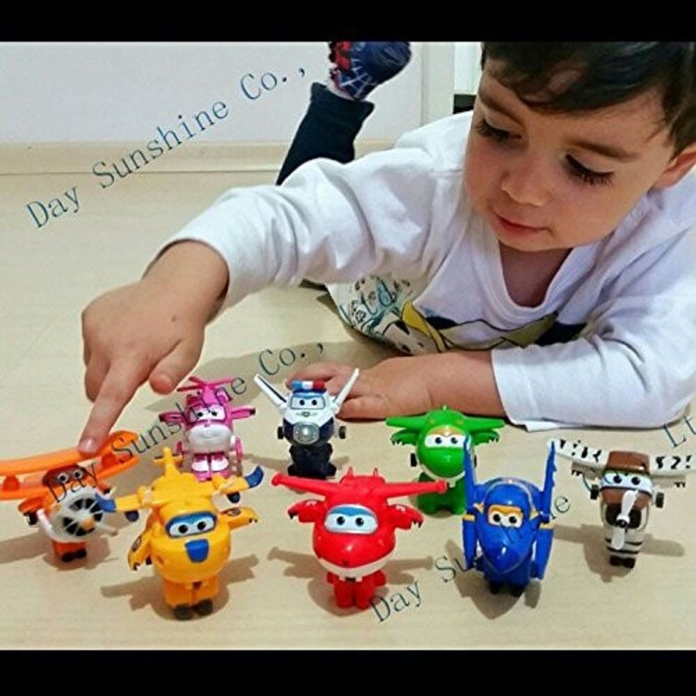 Super Wings Mini Planes Toys Airplane Robot Action Figures Boys /& Girls Birthday Gift 12PCS Perfect Set Flip, Jett, Dizzy, Paul, Donnie, Jerome, Mira, Grand Albert, Bello, Astra, Chase and Todd SONOKONG