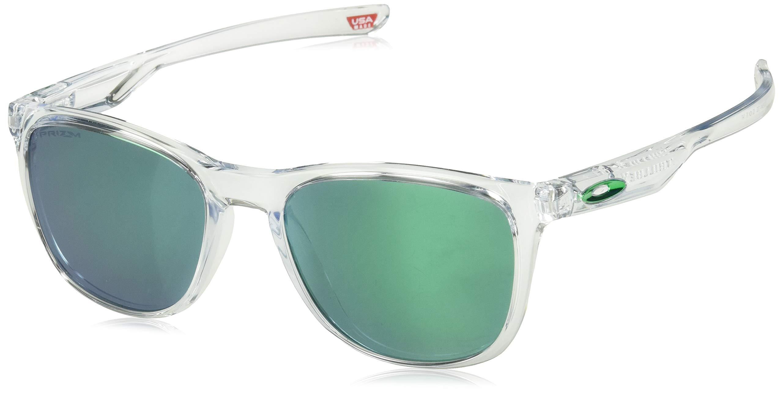 Oakley Men's Trillbe X Non-Polarized Iridium Rectangular Sunglasses, Polished Clear, 52.0 mm