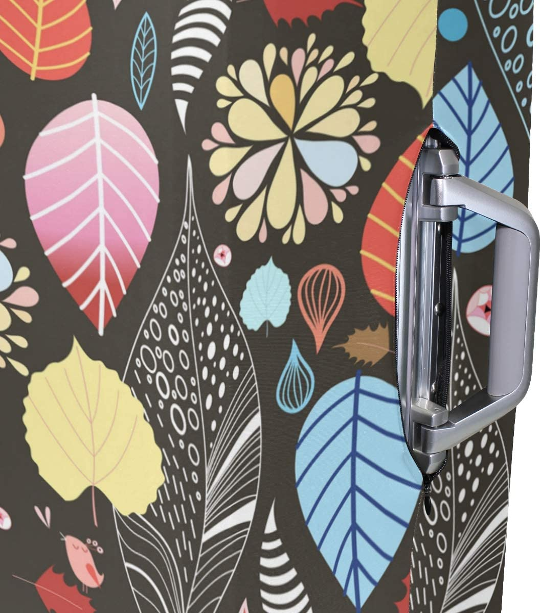 FANTAZIO Abstract Leaf Tile Suitcase Protective Cover Luggage Cover