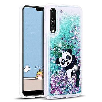 MOSORIS Funda Huawei P20 Pro, Transparente Carcasa Purpurina 3D Bling Glitter Líquido Brillar Case Cover Silicona Cubierta Anti-arañazos Tapa Choque ...
