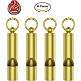 Mini Whistle Premium Emergency Whistle by Outmate-H62 Brass Loud Version EDC Tools