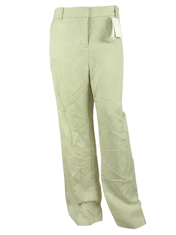 Charter Club Womens Light Flax Classic Fit 5-Pocket Trouser Pants 10