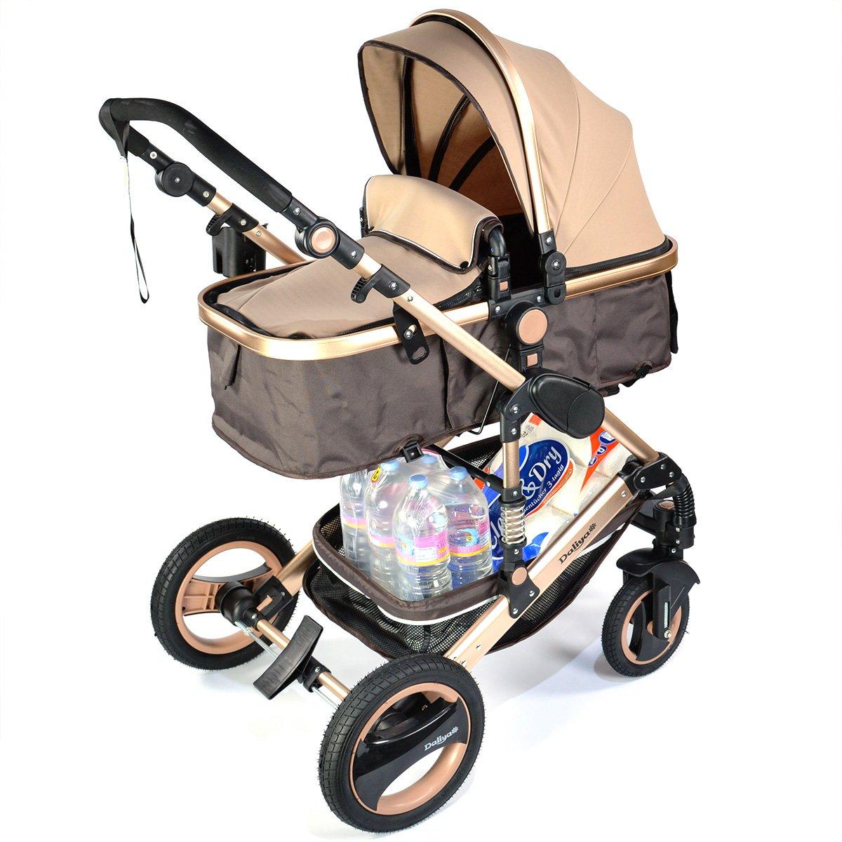 3 in 1 Kinderwagen Bambimo Kombikinderwagen Babyschale Buggy Sportsitz Babywanne Aluminium Rahmen Daliya