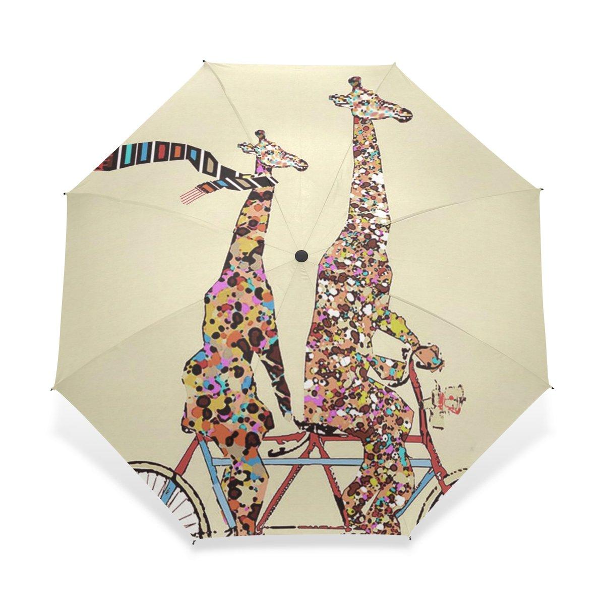 baihuishop防風強力なフレームUnbreakableキリンパターンゴルフ傘、コンパクトで旅行for Easy Carryingスポーツ雨傘 B01I2NEM0K