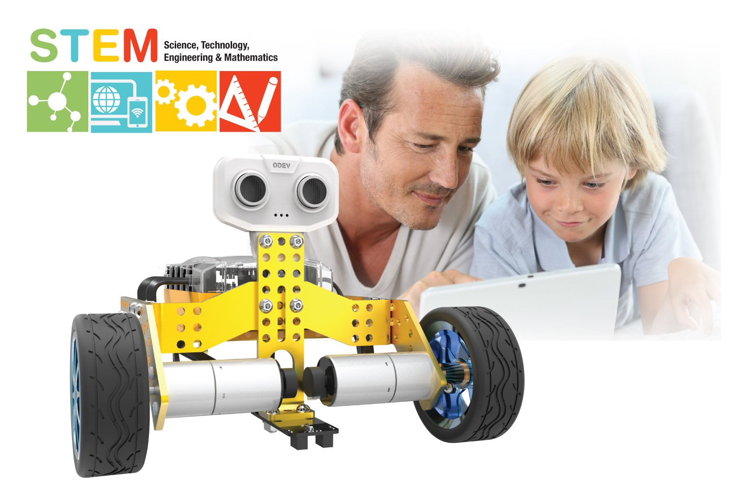 Tenergy ODEV Tomo STEM Robot 2-in-1 DIY Robot Kit Transformable and Programmable APP Controlled Robot Building Kit for Kids Age 8+ Bonus Batteries Included
