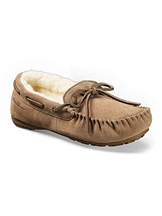 a6fba67f456 Amazon.com  Eddie Bauer Women s Shearling-Lined Moccasin Slipper ...