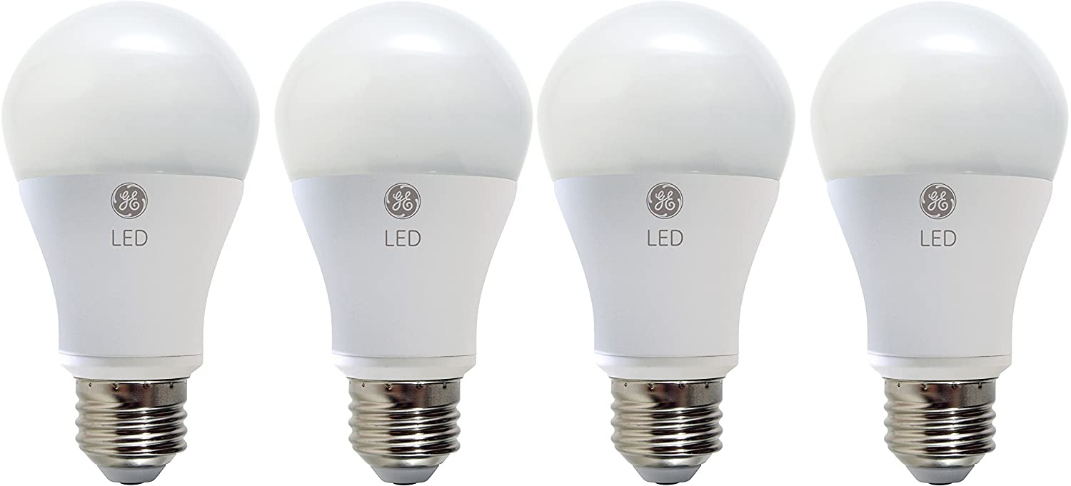 GE Lighting 67607 LED A19 Light Bulb with Medium Base, 7-Watt, Soft White, 4-Pack, 4 Piece