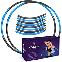 Weighted Hoola Hoops for Adults - Professional Soft Padding Hoola Hoops for Exercise 8 Sections Detachable Design…
