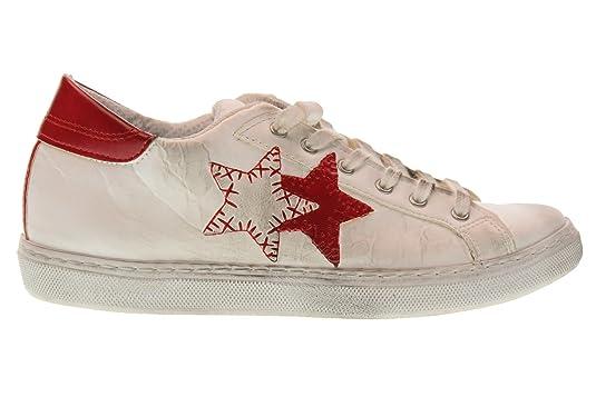 2 STAR Scarpe Donna Sneakers Basse 2SD 1801 Bianco Rosso Taglia 35 Bianco- Rosso  Amazon.it  Scarpe e borse 34c80e56dfc