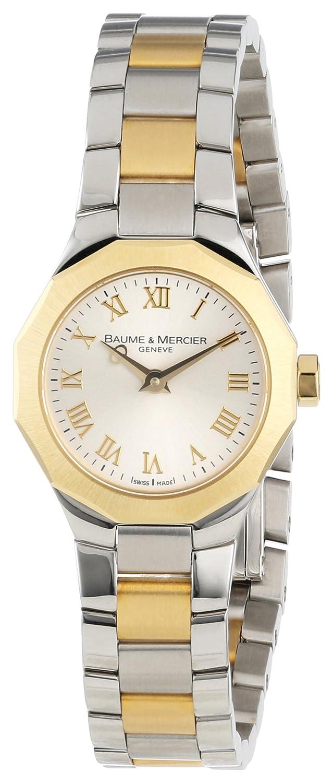Baume Mercier Women s 8762 Riviera XS Two-Tone Gold Dial Watch