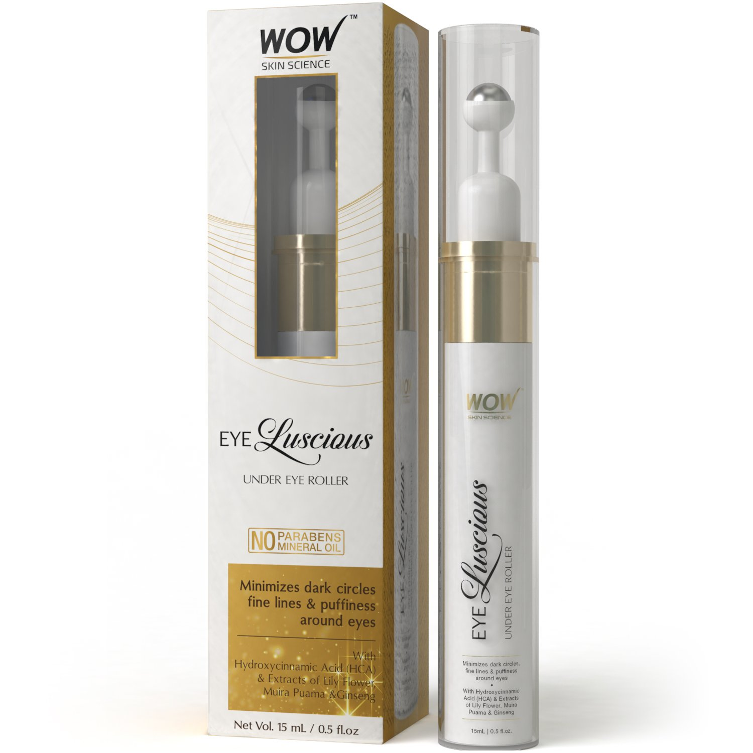 WOW Eye Luscious Under Eye Roller, 15ml