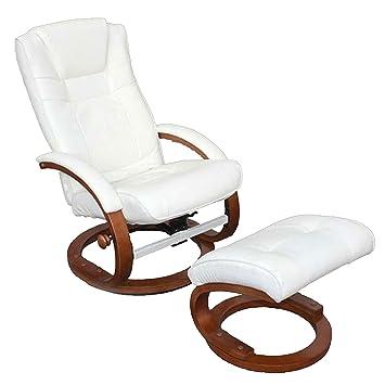 Relaxsessel garten weiß  Fernsehsessel Relaxsessel Sessel Pescatori, Kunstleder, mit Hocker ...