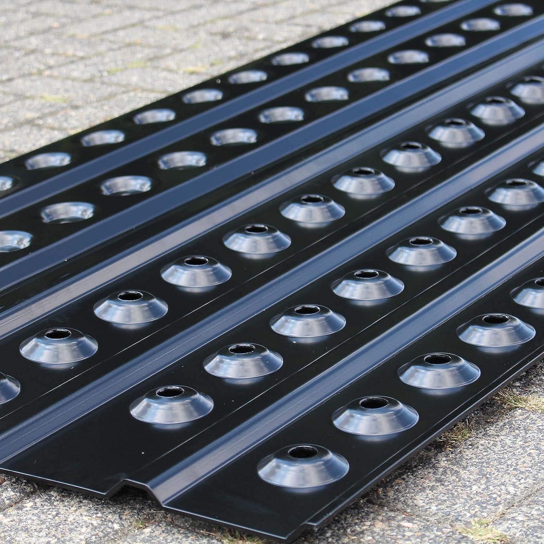 Sandbleche 1 Paar 150x45 cm Anfahrhilfe aus Aluminium Bergungshilfe Anfahrschiene f/ür PKW SUV