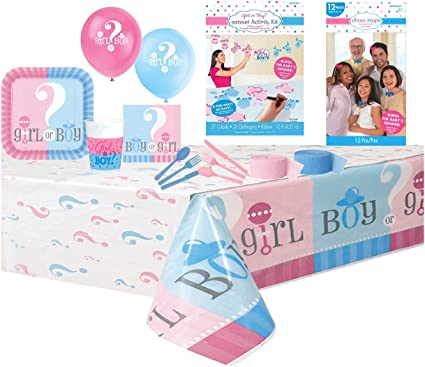 BABY SHOWER GIRL Party Pack Tableware Kit Plates Napkins Tablecover Balloons