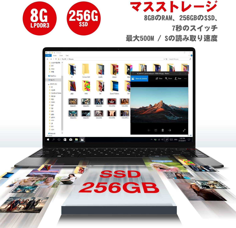 【激安】CHUWI Aerobook 13.3インチ ノートパソコン M3 6Y30 高速CPU搭載 メモリー8GB+256GB SSD FHDスクリーン