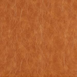 G625 Caramel Brown Distressed Leather Look Upholstery Grade Recycled Leather (Bonded Leather) by The Yard