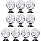 IFOLAINA Emballage de 10 Bubbles Brosse en cristal Cabinet Bouton Garniture Tiroir Tiroir Poignée 30mm