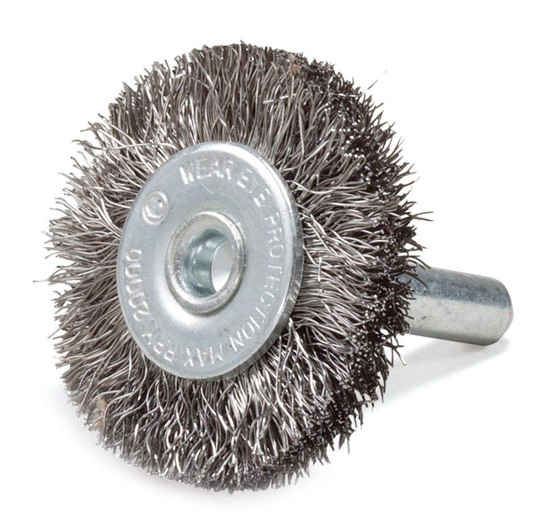 ZaZaTool 3'' Crimped Stainless Steel Wire Wheel Brush with 1/4'' Shank Die Grinder or Drill