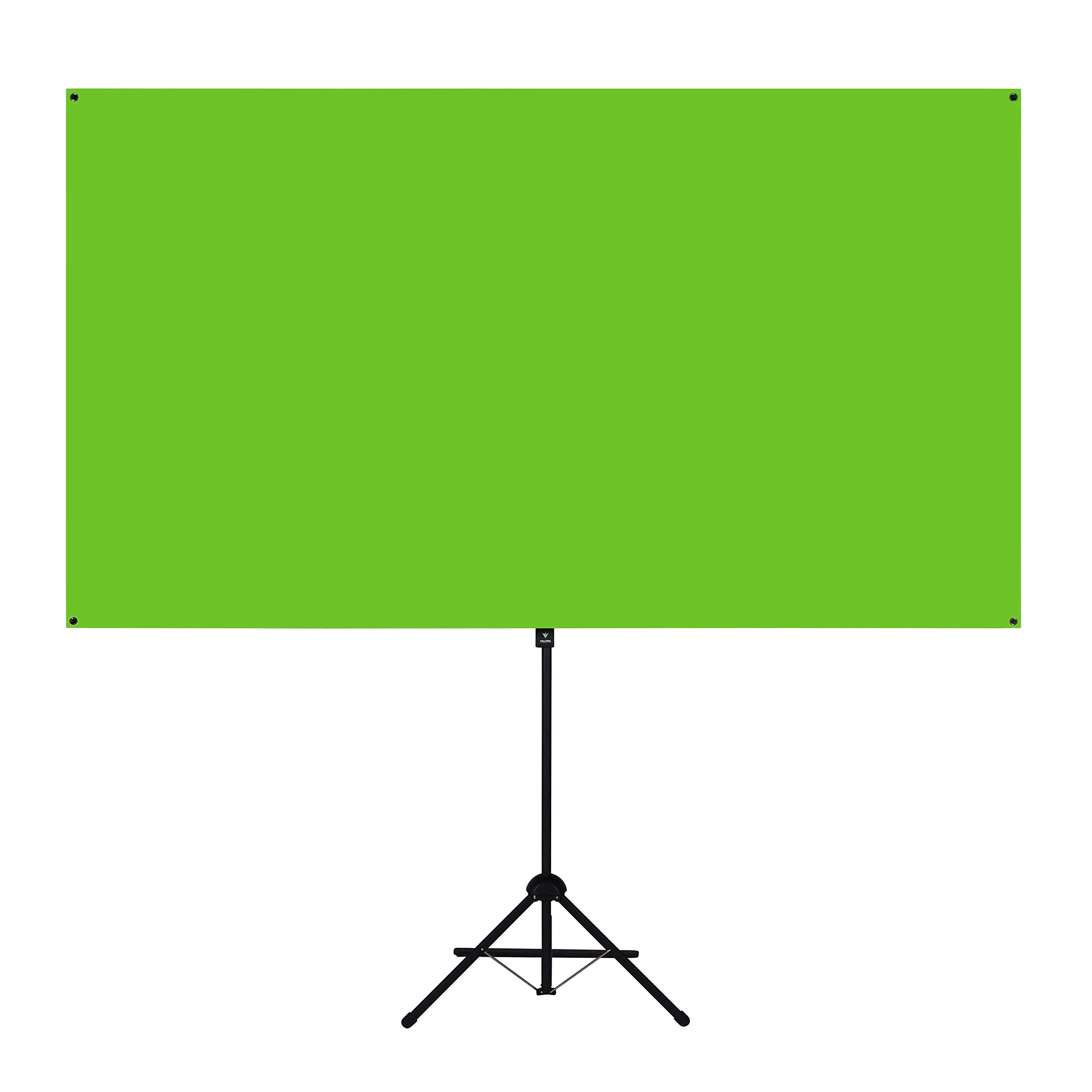 Valera Explorer 90 Inch Portable Green Screen for Streaming and Videos - Mounts on Tripod and Wall | Only 8 lbs | 2 min Setup | 16:9 Format | ChromaBoost Fabric with High Vibrancy for Low Lighting by On the Go Screens