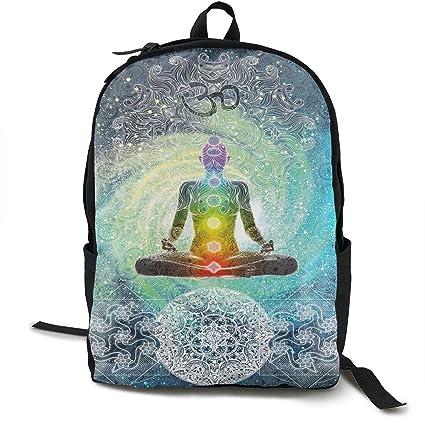 DFIDAS Mochila Yoga Design Hippie Style Classic Backpack ...