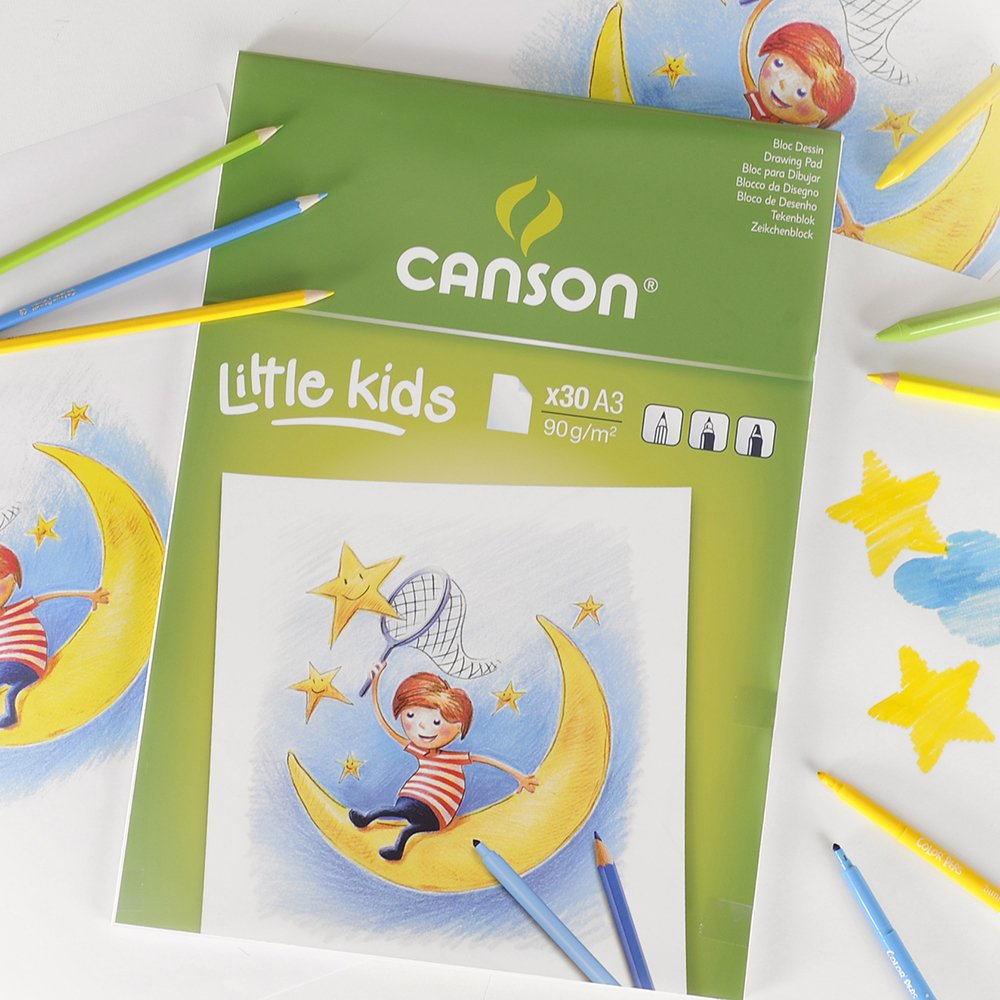A5 90 GSM Drawing Paper Pad Canson Kids 5 White Pack of 30 Sheets