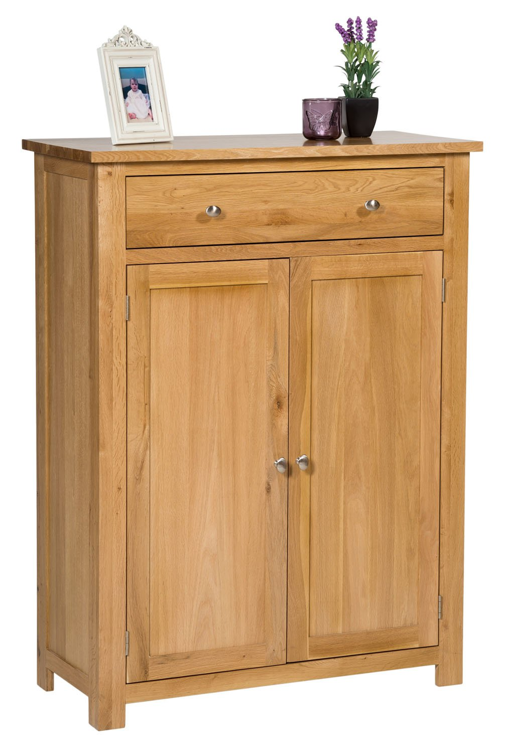 Tall Shoe Cupboard Uk Part - 35: Waverly Oak Tall Shoes Storage Cabinet In Light Oak Finish | Solid Wooden  Cupboard / Organiser With Drawer: Amazon.co.uk: Kitchen U0026 Home