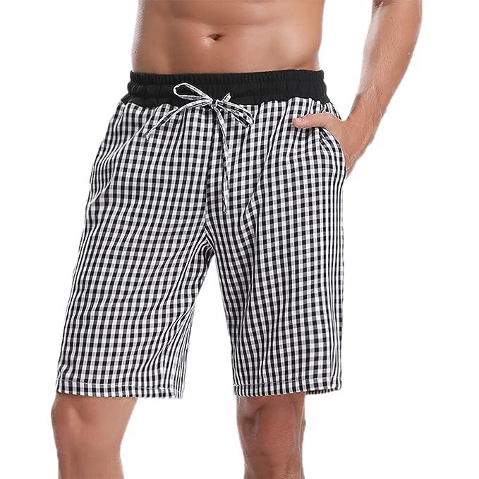 Hawiton Pantalones de Pijama Pantalones Cortos de Los Hombres de Verano 2018 Hombres Deportivos Shorts cWJ0s