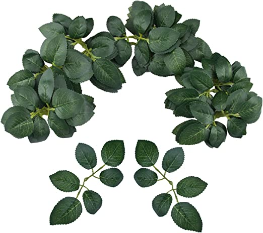 Amazon Com Meiliy 60pcs Bulk Rose Leaves Artificial Greenery Fake Rose Flower Leaves For Diy Wedding Bouquets Centerpieces Party Decorations Rose Vine Wreath Garlands Supplies Home Kitchen