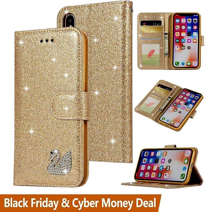 Iphone Motif 5 Cm 15 Xr Téléphone Paillettes Etui nPk80OXw