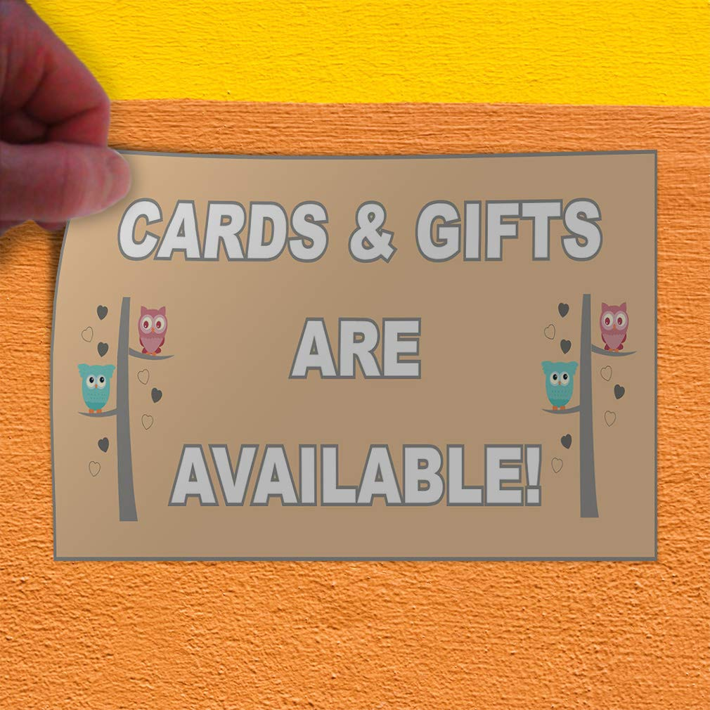 Business Gifts Cards Outdoor Store Sign Orange 14inx10in Set of 10 Decal Sticker Multiple Sizes Gifts and Cards are Available